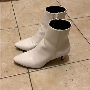 Christian Siriano White Kitten Heel Boots